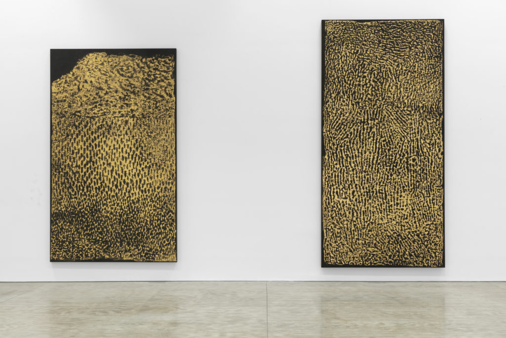 "Installation view of ""James Nares: Monuments."" Photo: Diego Flores, courtesy of Kasmin Gallery."