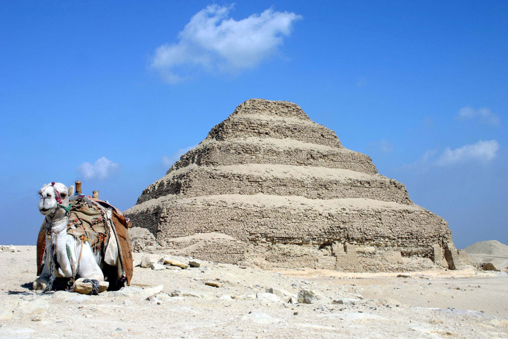 Saqqara pyramid of Djoser in Egypt. Photo: Charlesjsharp, via Wikimedia Commons.