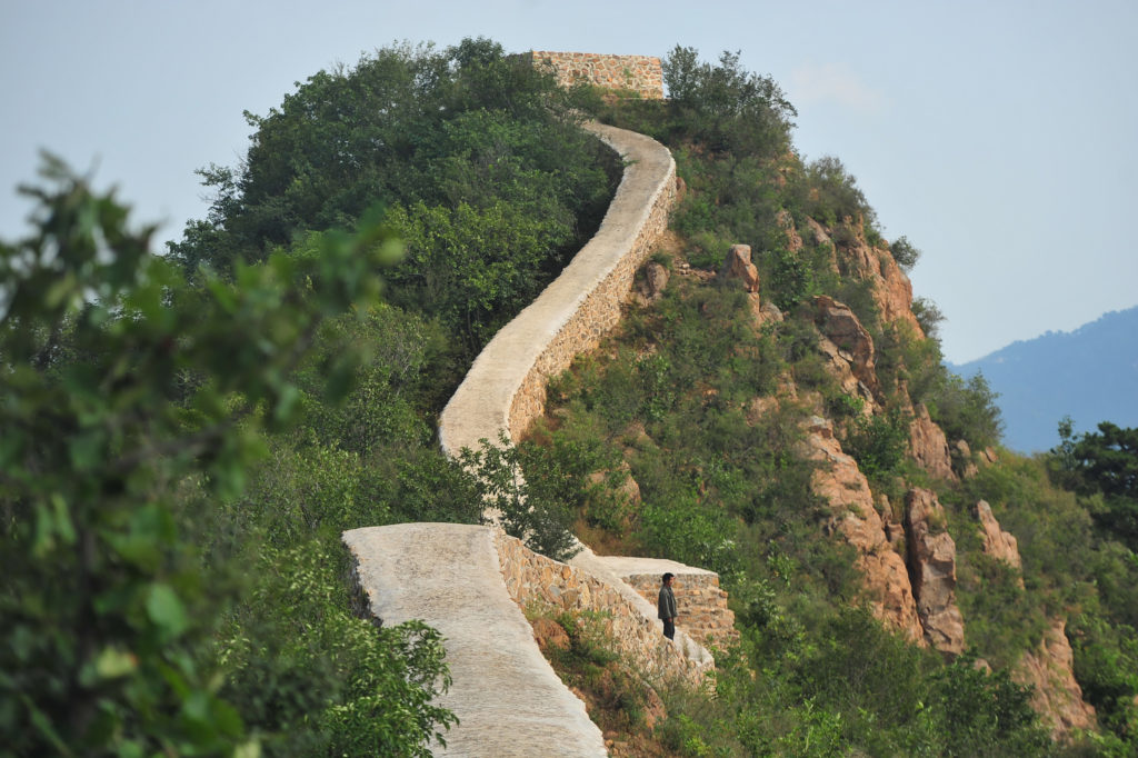 Repaired section of the Great Wall of China. Courtesy Getty Images.