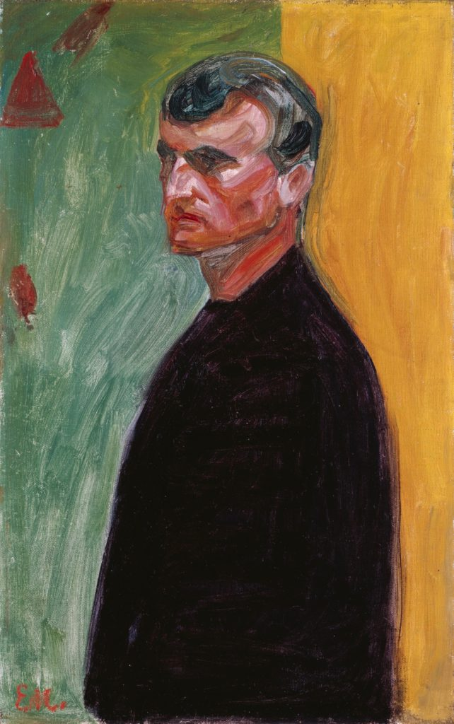 Edvard Munch, <i>Self-Portrait (against two-colored Background)</i> 1904. © Bildrecht, Wien, 2017. Courtesy of the Heidi Horten Collection.