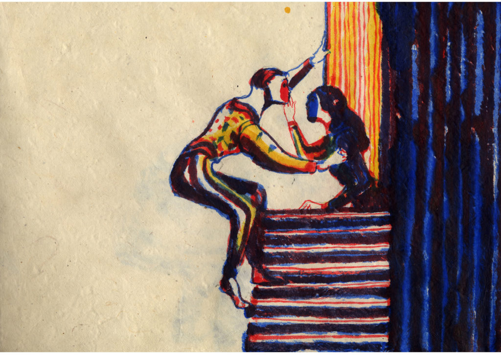 A drawing of Romeo and Juliet by Lorenzo Mattotti. Courtesy of Van Cleef & Arpels.