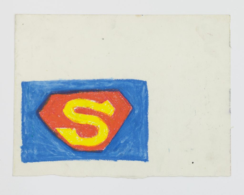 """Stewart Hitch, """"Superman Logo (c. 1978). Courtesy of the artist and Fisher Parrish Gallery."""