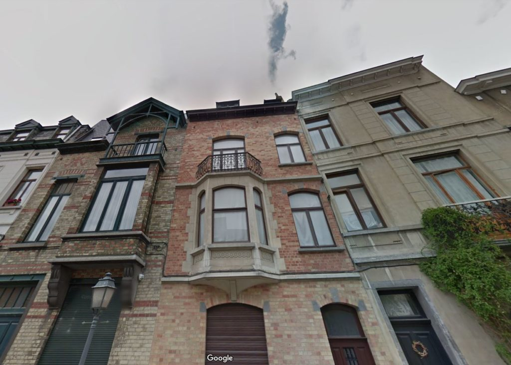 Magritte's home and studio in Brussels, as seen on Google Street View.