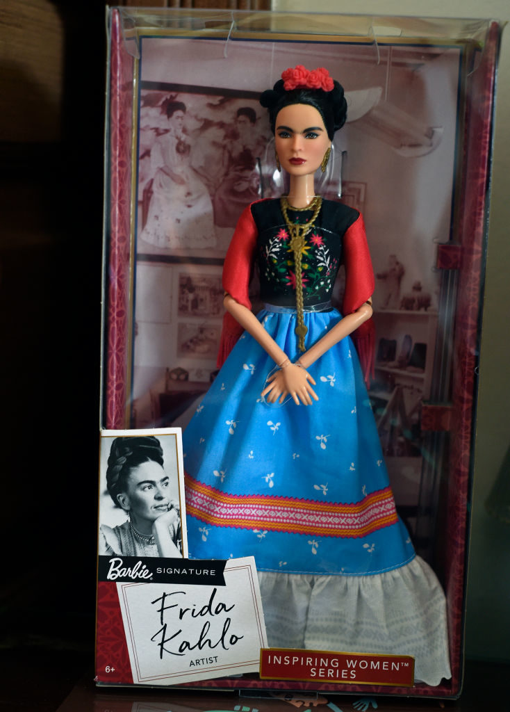 A Barbie doll depicting late Mexican artist Frida Kahlo. Photo by ALFREDO ESTRELLA/AFP/Getty Images.