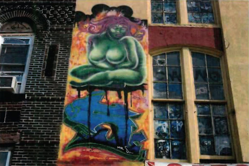 Lady Pink, Green Mother Earth at 5Pointz. Photo courtesy of the artist.