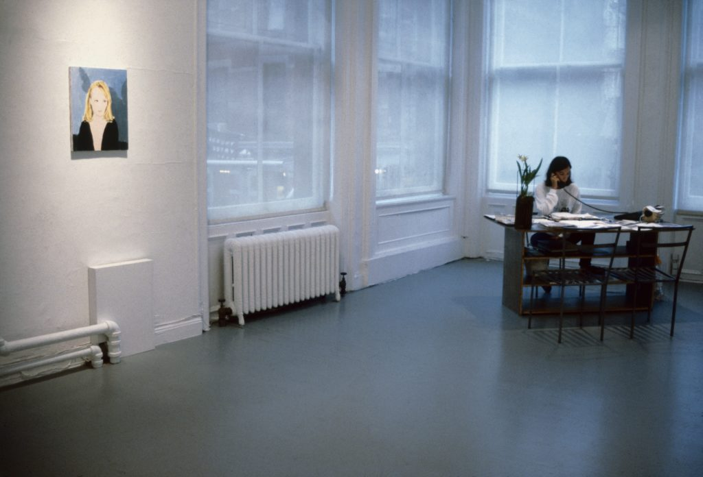 Lisa Spellman in the 303 Gallery back office. Courtesy of 303 Gallery, New York.