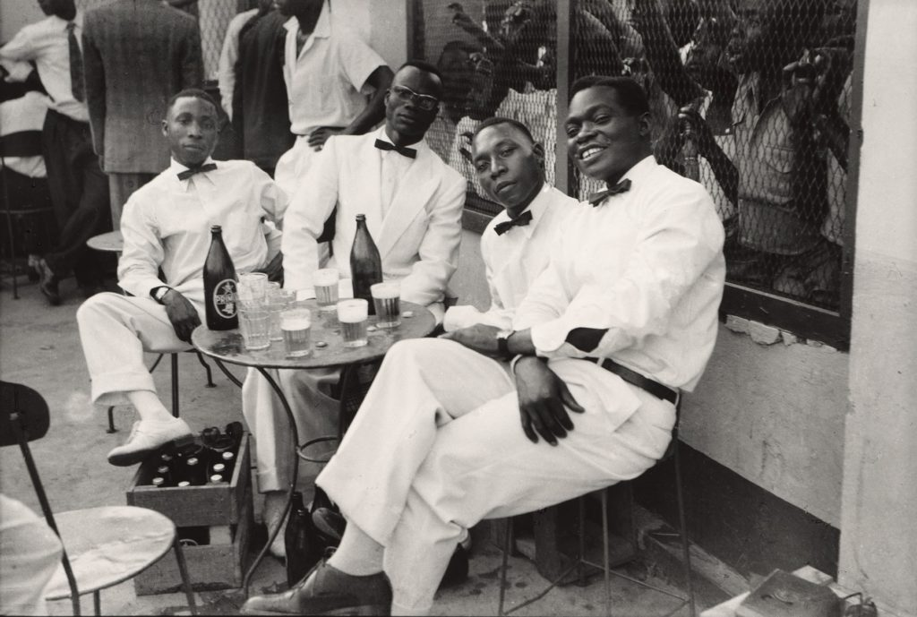 Jean Depara (Congolese, born Angola 1928-1997). Les musiciens (The Musicians). 1975. Gelatin silver print, printed later, 19 11/16 × 23 5/8″ (50 × 60 cm). The Museum of Modern Art, New York. CAAC-The Pigozzi Collection. Gift of Jean Pigozzi, 2019