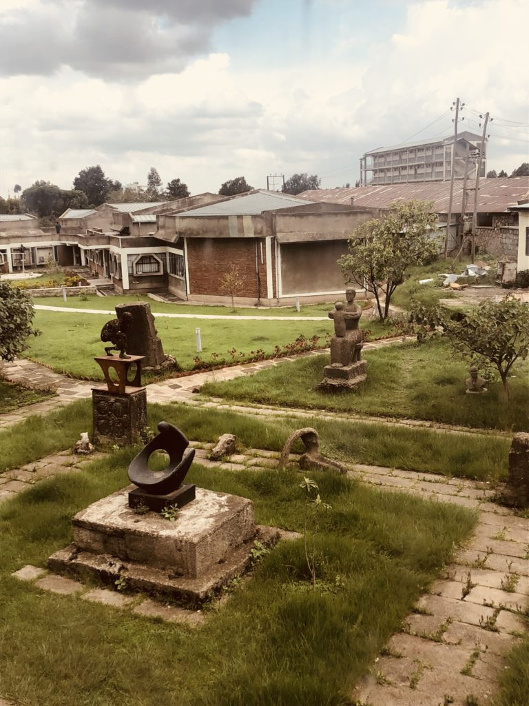 The campus of Alle School of Fine Arts and Design at Addis Ababa University. Photo: Rebecca Ann Proctor.