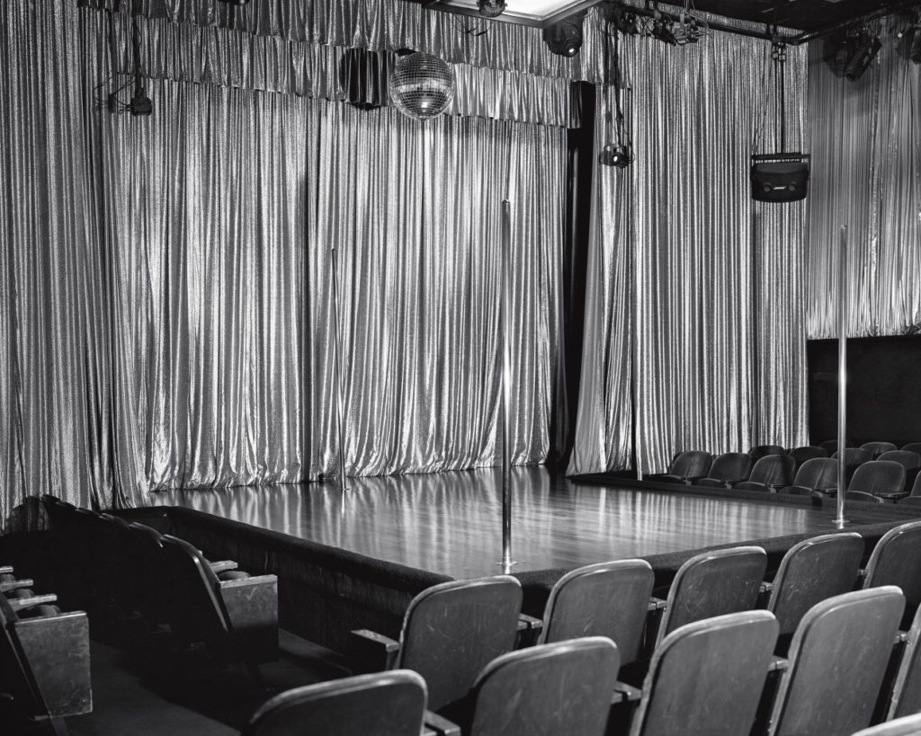 Jack Latham, <i>Main Stage at the Mitchell Brothers O'Farrell Theatre, San Francisco</i> (2019). Courtesy of the artist.