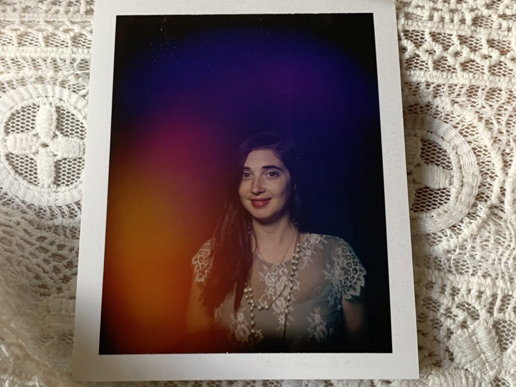 The author's aura photograph from Radiant Human's Christina Lonsdale, taken at the Whitney Museum of American Art. Photo by Sarah Cascone.
