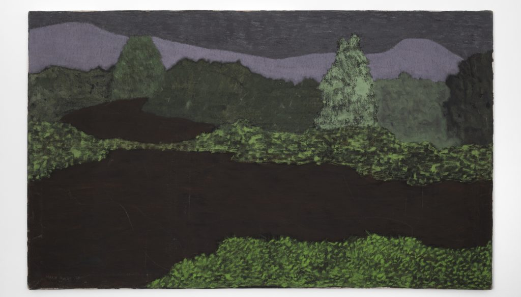 March Avery, <i>Dark Spring Landscape</i> (1973). © March Avery, courtesy the artist and Blum & Poe, Los Angeles/New York/Tokyo.