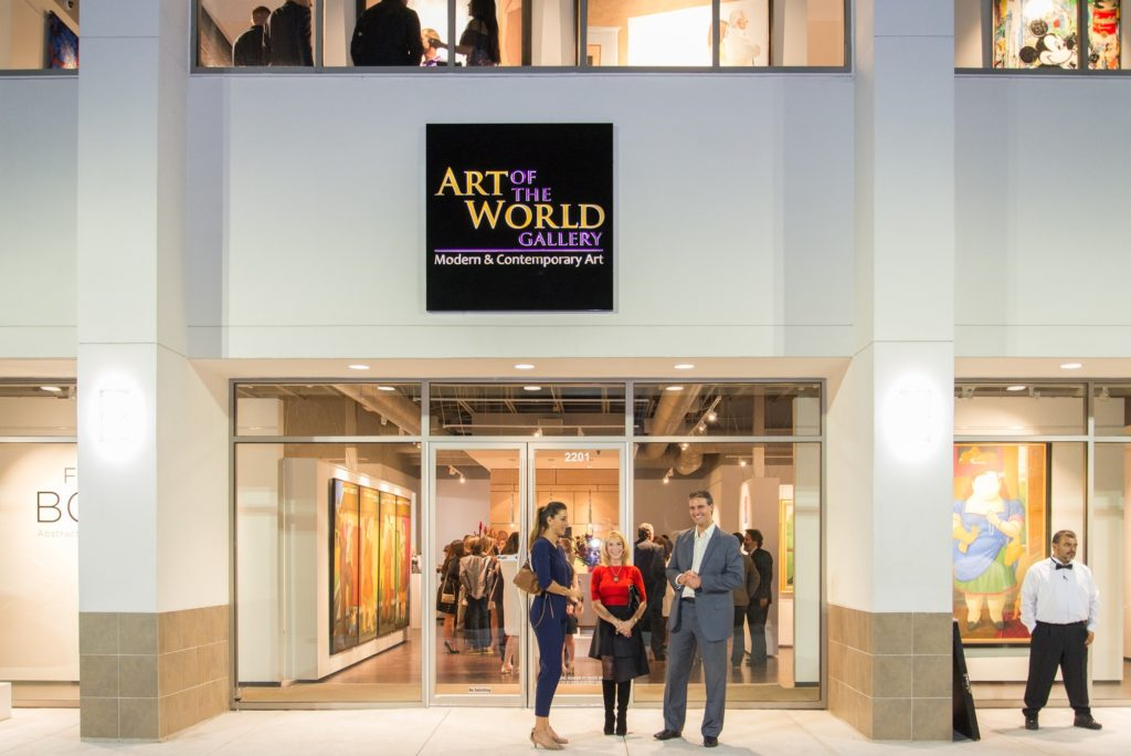 A view of the Art of the World Gallery in Texas. Courtesy of Art of the World Gallery.