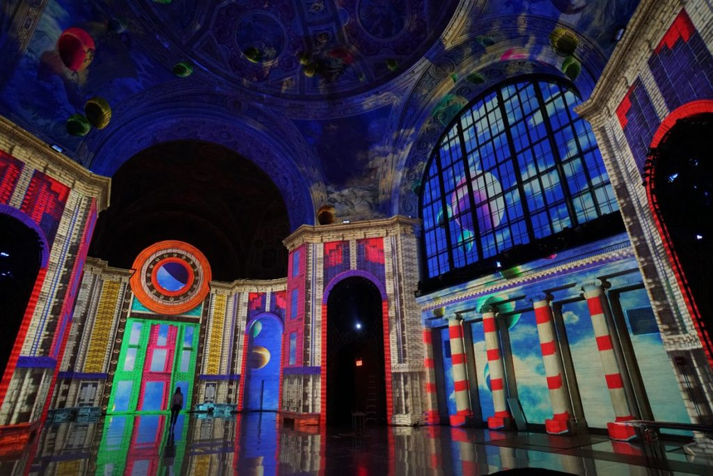 SuperReal at Cipriani 25 Broadway. Photo courtesy of the Moment Factory.