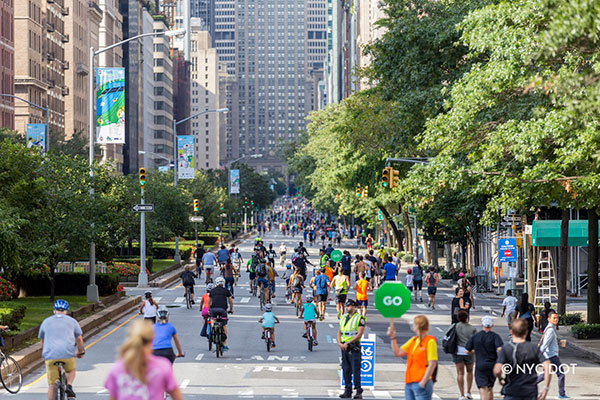 Summer Streets. Photo courtesy of the New York City Department of Transportation.