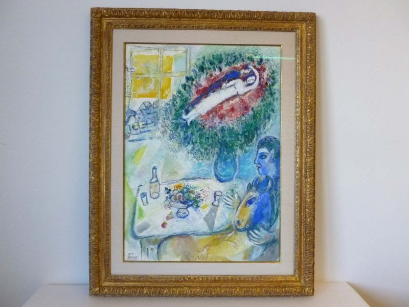 Marc Chagall, <i>Reverie</i>. Photo: Manhattan District Attorney's Office.
