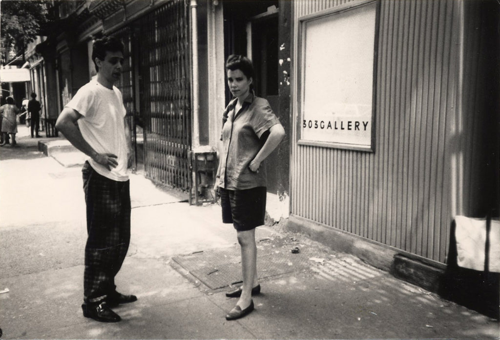 Colin de Land and Lisa Spellman on East 6th Street. Courtesy of 303 Gallery, New York.