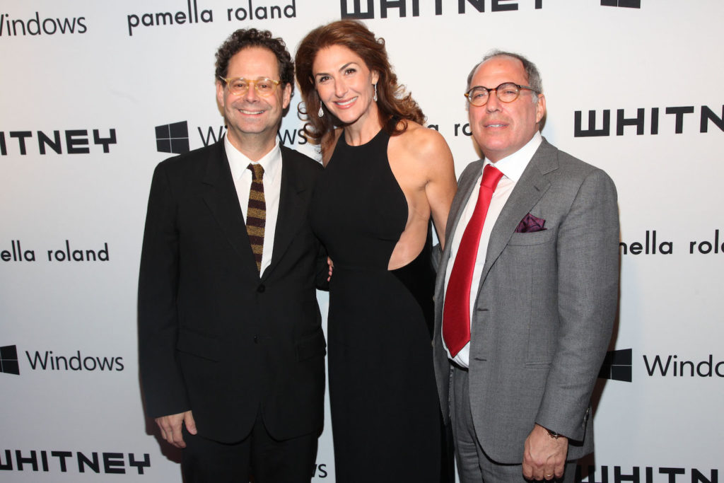 Whitney Museum director Adam Weinberg, with Allison Kanders and Warren Kanders at the 2012 Whitney Gala. ©Patrick McMullan. Photo by A. De Vos/PatrickMcMullan.com.