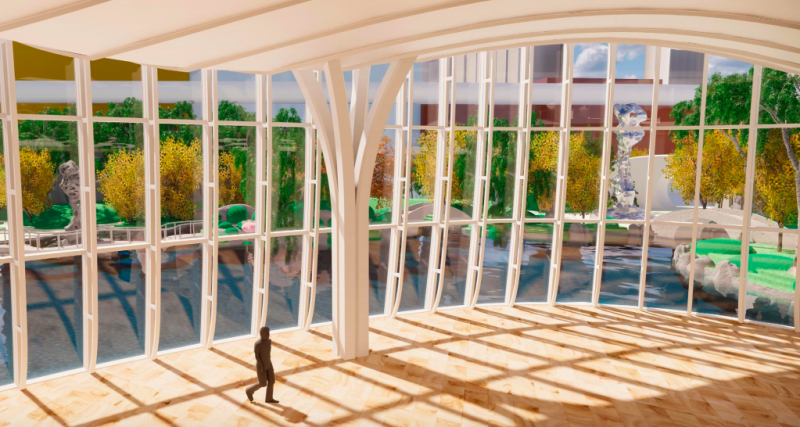 A rendering of the art museum at Wynn Crystal Palace in Macau. Image courtesy of Wynn Resorts.