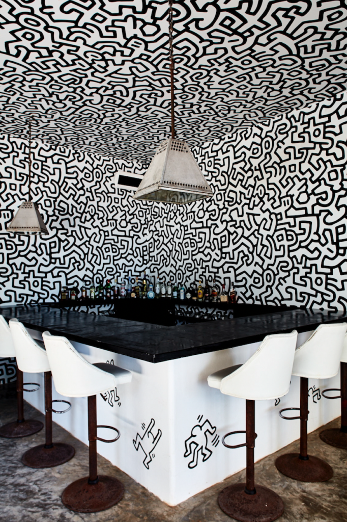 The Keith Haring-themed bar. Photo courtesy of Design Hotels.