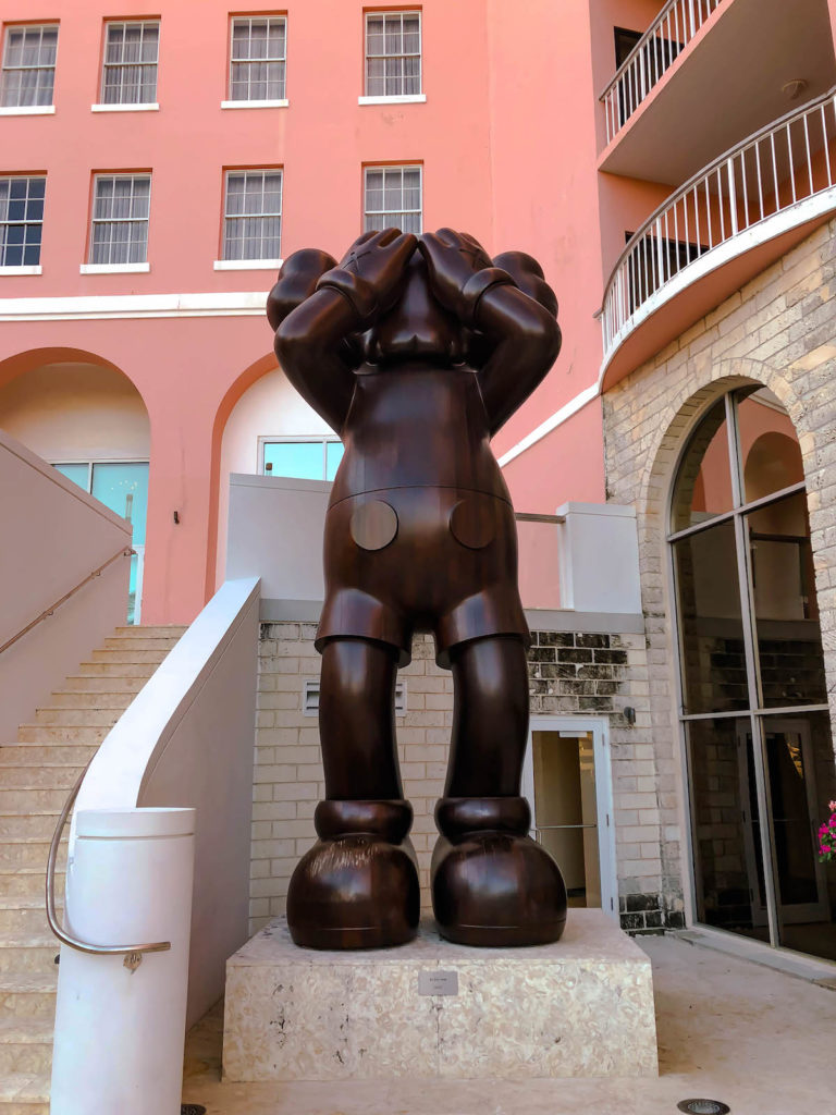 KAWS, At This Time (2016). Photo courtesy of The Hamilton Princess Hotel & Beach Club.