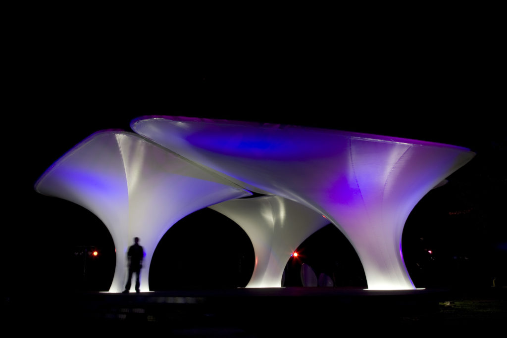 Zaha Hadid's Lilas Pavilion at the Serpentine Gallery, London. Photo: View Pictures/Universal Images Group via Getty Images.