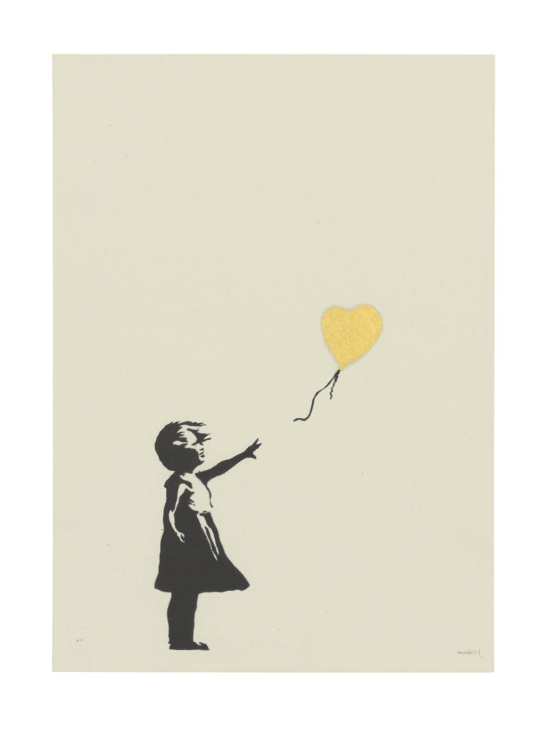 Banksy, <i>Girl with Balloon (Gold)</i>. Courtesy of Christie's Images LTD. 2019.