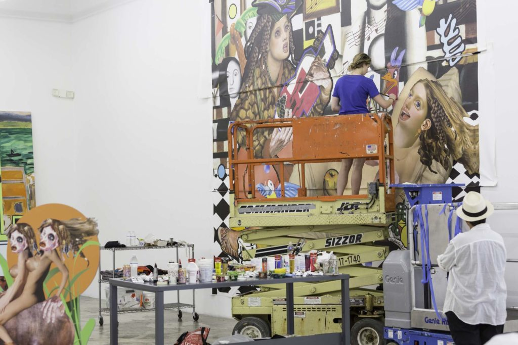 Allison Zuckerman at the Rubell Family Collection in the summer of 2017. Courtesy of Kravets Wehby Gallery and the Rubell Family Collection.