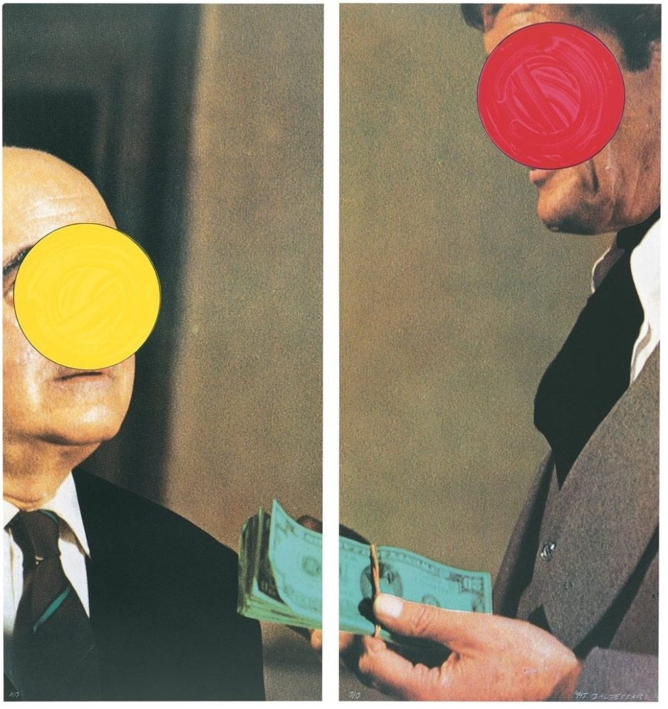 John Baldessari, <i>Money (with Space Between), </i> (1991) courtesy Gemini G.E.L.© John Baldessari.