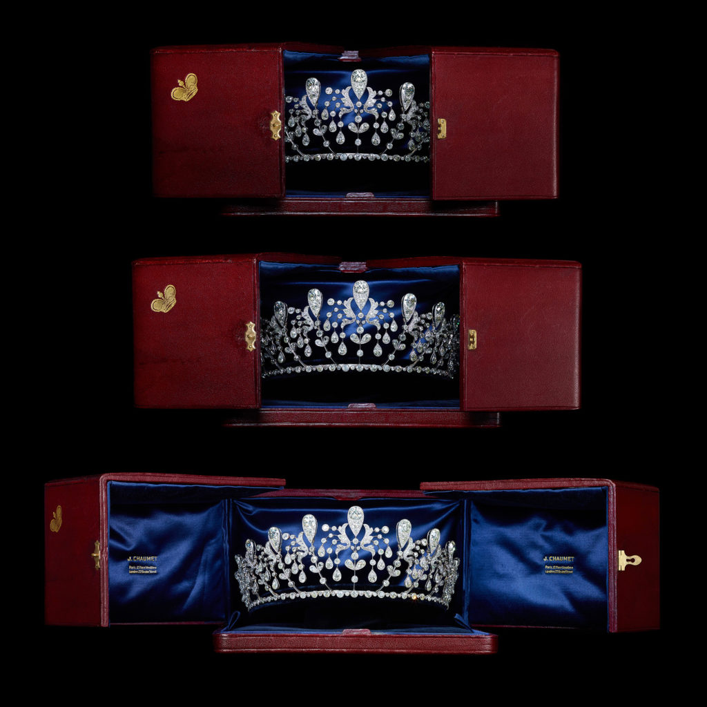 A tiara that once belonged to Princess Hedwige of Bourbon-Parma. Photo courtesy Chaumet.