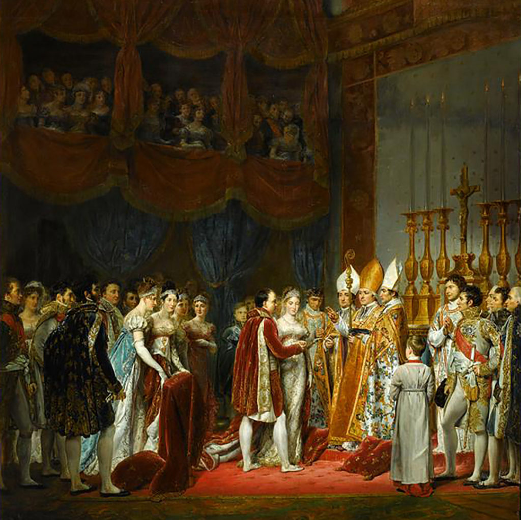 Georges Rouget, The Religious Marriage of Napoleon I and Marie-Louise in the Salon Carre at the Louvre (1810). Image courtesy Chaumet.