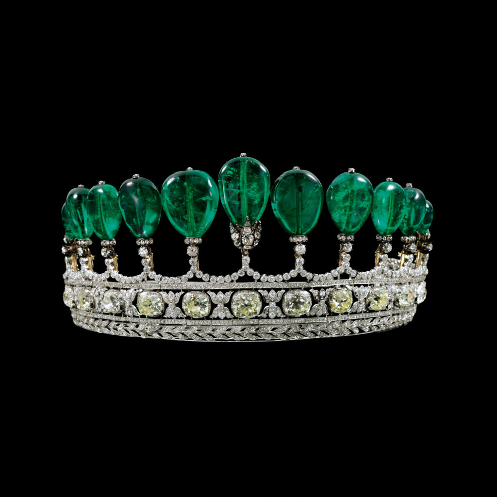 Princess Henckel von Donnersmarck emerald tiara. Photo courtesy Chaumet.