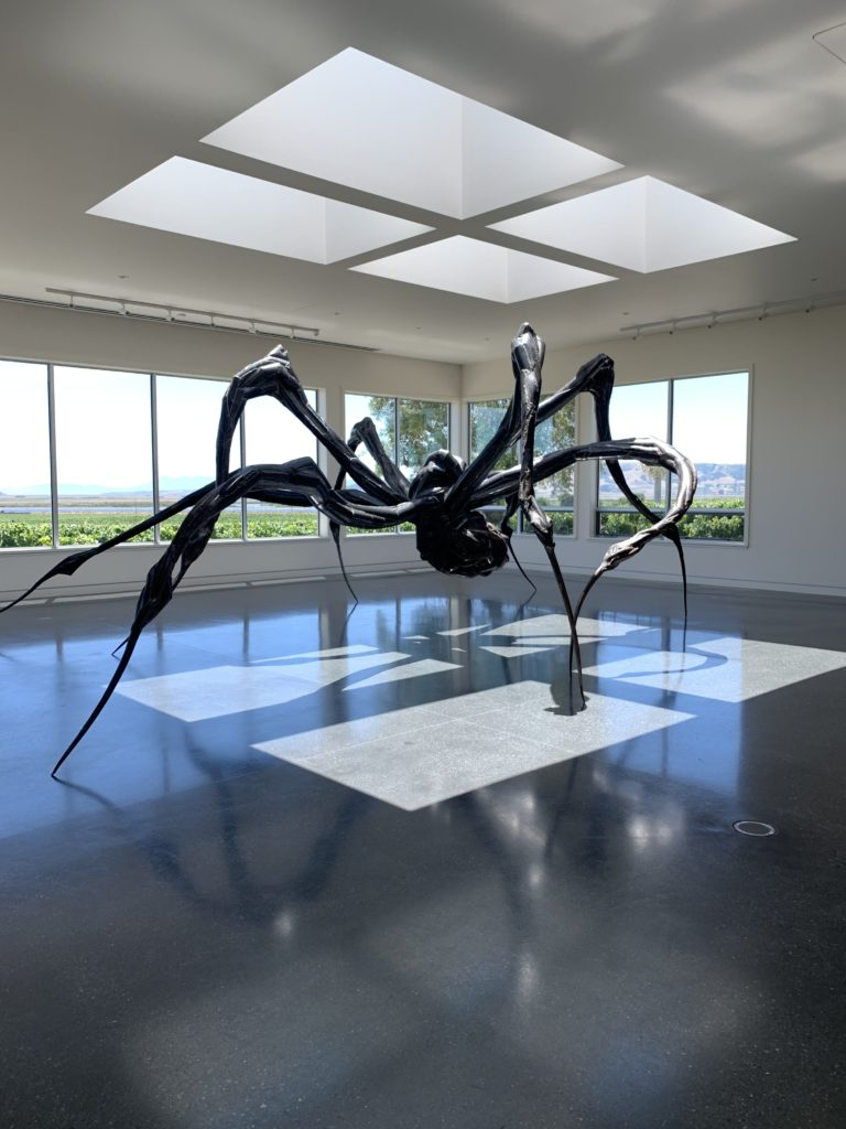A Louise Bourgeois spider at the Donum Estate winery in Sonoma, California. Photo by Joey Lico.