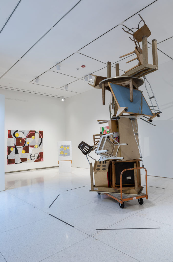 Installation view of Cross Currents/Intercambio Cultural at the Smart Museum of Art. Photo by Joey Lico.