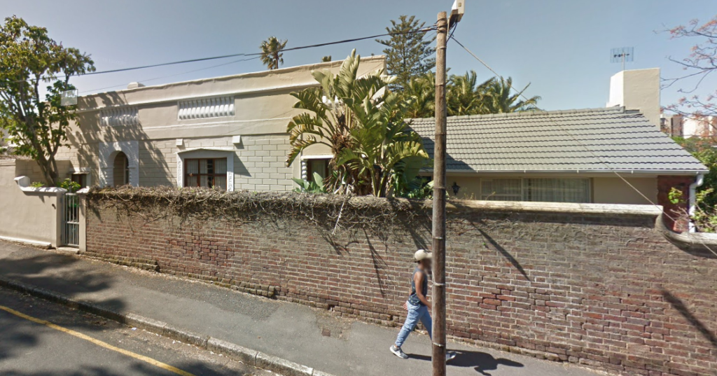 The Irma Stern house in Capetown as seen from Google Street view.