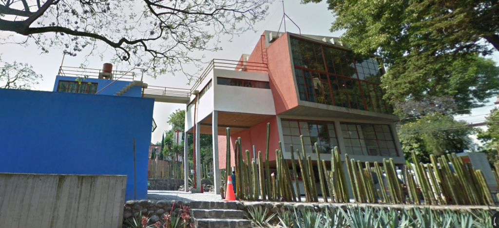 The Diego Rivera and Frida Kahlo studios in Mexico City on Google Street View.