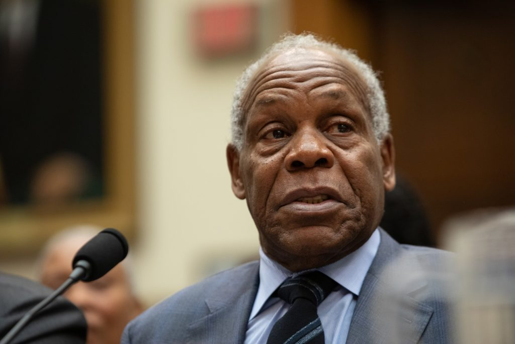 Actor Danny Glover testifies about reparations for the descendants of slaves, during a hearing before the House Judiciary Subcommittee on the Constitution, Civil Rights and Civil Liberties, on Capitol Hill in Washington, D.C. on Wednesday June 19, 2019. Photo by Cheriss May/NurPhoto via Getty Images.