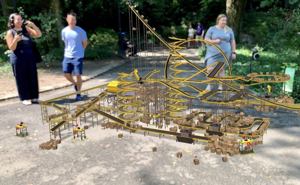 Cao Fei's installation for [AR]T initiative in Central Park. Image: Ben Davis.