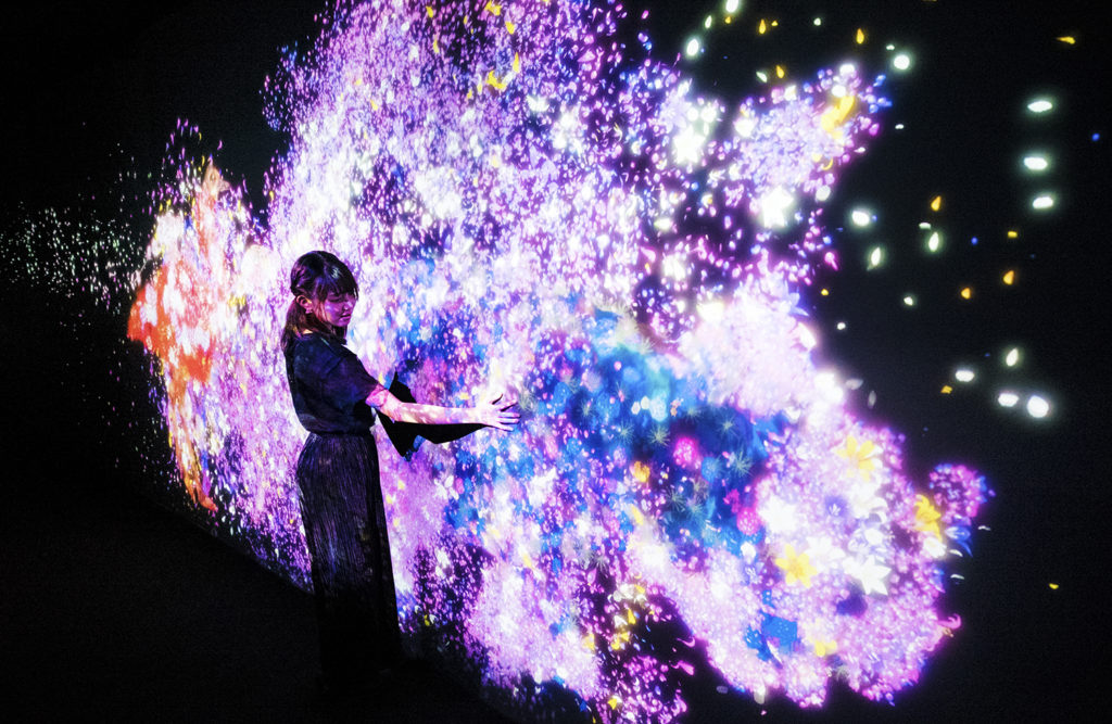 Art from the Digital Art Museum: teamLab Borderless. Photo courtesy of teamLab.