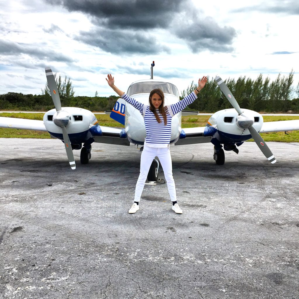 Boarding the plane in Nassau to go to Harbour Island. Photo courtesy Lolita Cros.