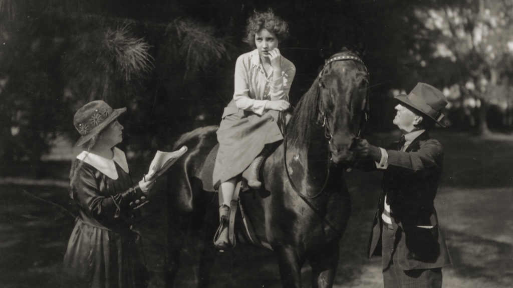 A scene from Alice Guy Blaché's <em>Bessie Love in Great Adventure</eM> (1918) in the documentary <eM>Be Natural: The Untold Story of Alice Guy-Blaché</em>. Courtesy of Zeitgeist Films/Kino Lorber.