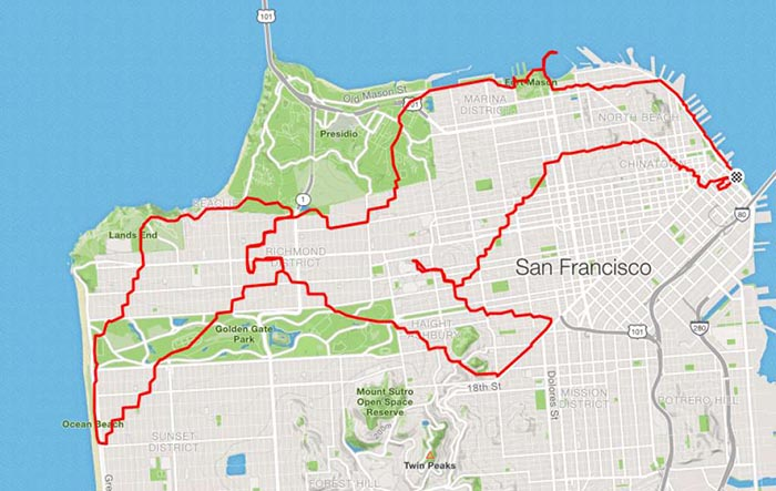 Courtesy of Lenny Maughan and Strava.