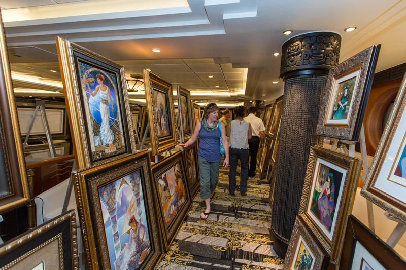 A Park West art auction in the Star Lounge on Royal Carribbean's Navigator of the Seas. This photo was posted publicly on the Cruise Critic, a Yelp-like website, by a user.