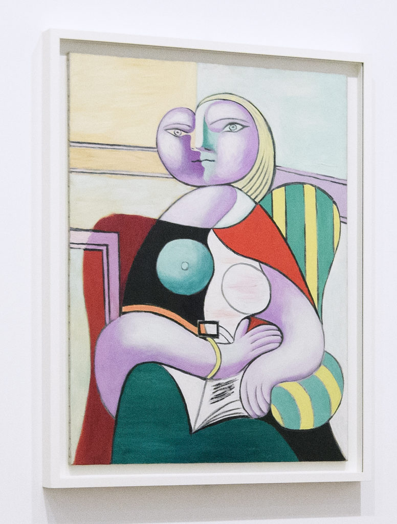 Pablo Picasso's <em>Reading</em>, 1932. (Photo by Leon Neal/Getty Images)