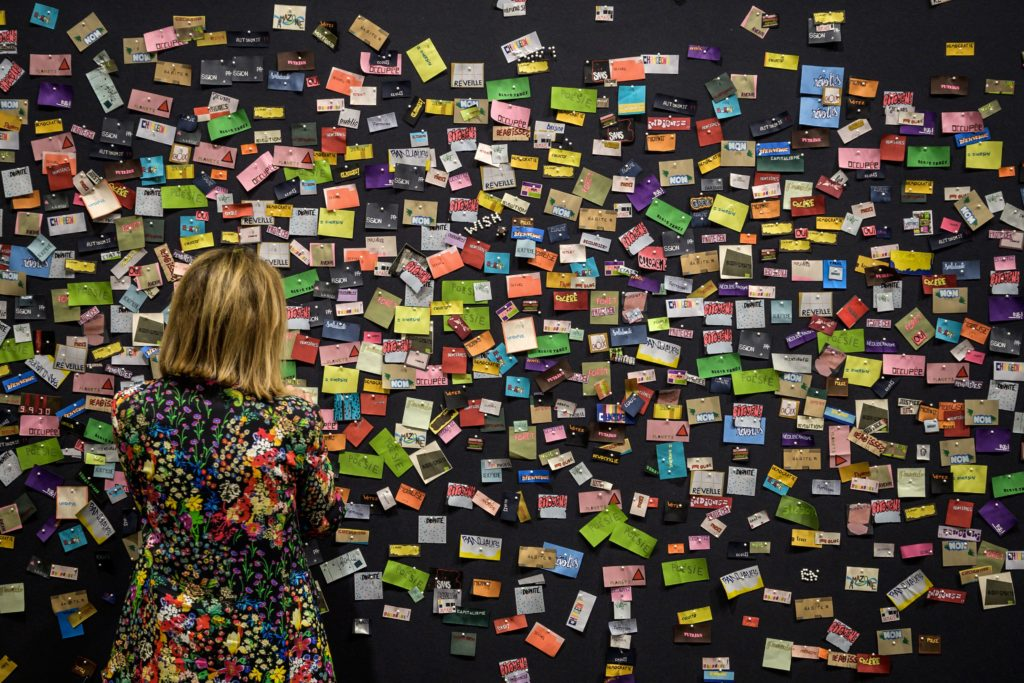 Rivane Neuenschwander's Bataille at VIP opening of Art Basel 2019. Photo: FABRICE COFFRINI/AFP/Getty Images.