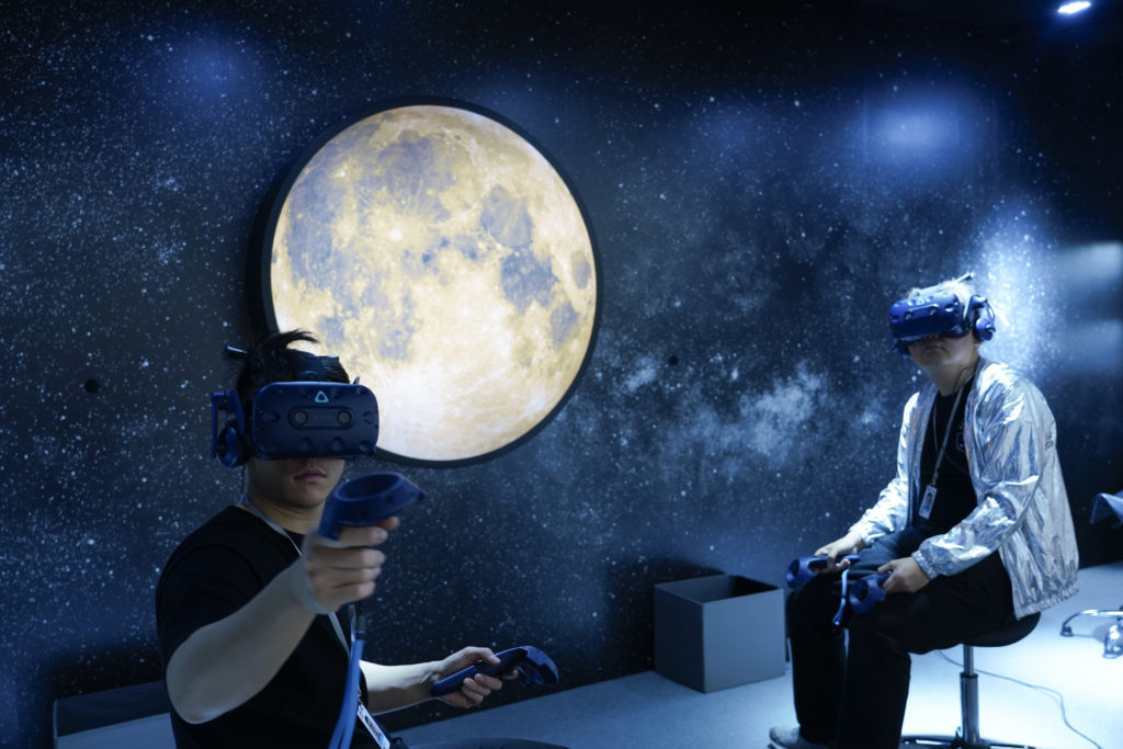 Visitors at Art Basel in Hong Kong are already familiar with VR and AR technologies. (Photo by Theodore Kaye/Getty Images)