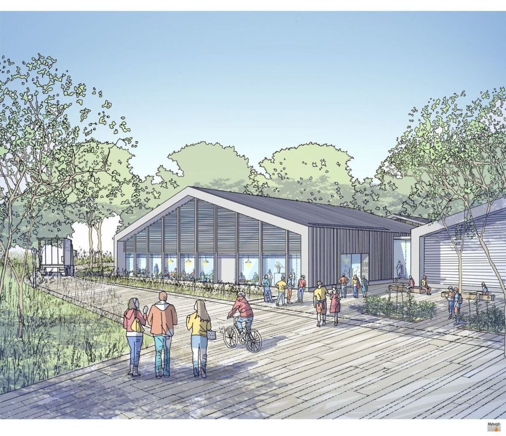 A sketch of the BM Arc collection store and research center, which is due to open in 2023. Courtesy of the British Museum.