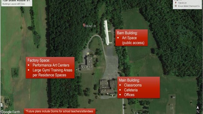 Plans for the potential Dean Collection Music & Art Campus site. Photo by Scott Allen, courtesy of the town of Macedon.