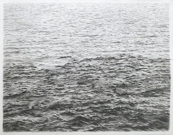 Vija Celmins, Drypoint—Ocean Surface (Between First and Second State) (1985). Courtesy of the Metropolitan Museum of Art.
