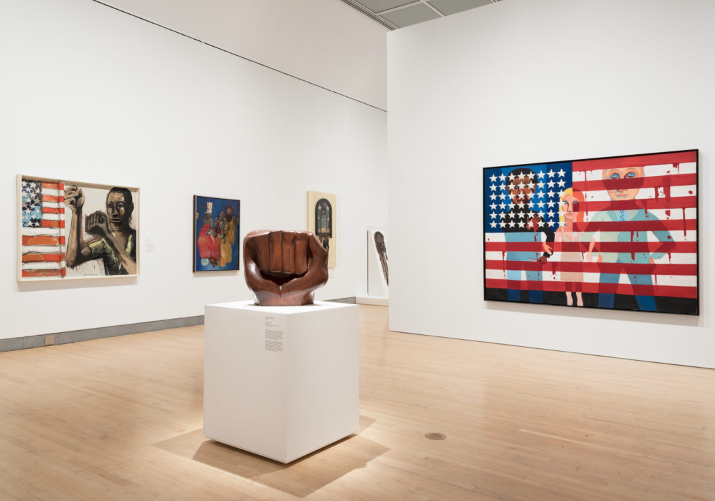 """Installation view, """"Soul of a Nation: Art in the Age of Black Power"""" at the Brooklyn Museum. Photo: Jonathan Dorado, Brooklyn Museum."""