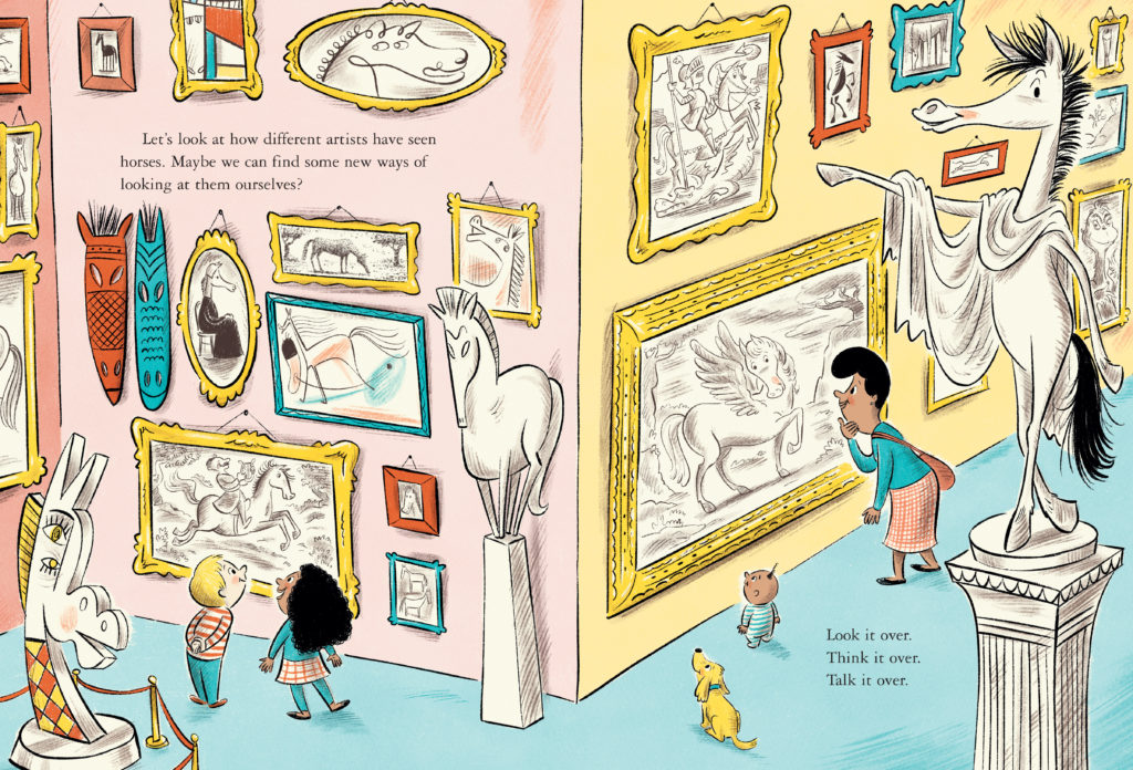 A page from Dr. Seuss's Horse Museum, illustrated by Andrew Joyner. Courtesy of Beginner Books.